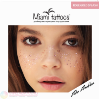 Временное тату Rose Splash веснушки Miami Tattoos