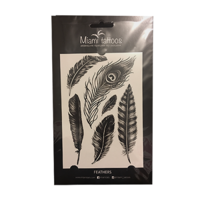 Временное тату Miami Tattoos Feathers